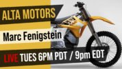 Interview with Alta Motors Co-Founder Marc Fenigstein Tuesday