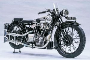 Is this the motorcycle on which Lawrence of Arabia had his fatal crash?