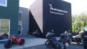 My Edelweiss Triumph in front of the museum.