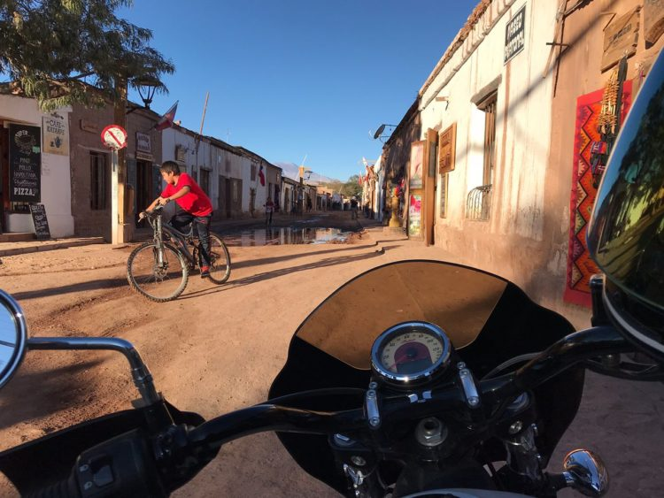 One of the main streets of San Pedro de Atacama. -Janelle Kaz