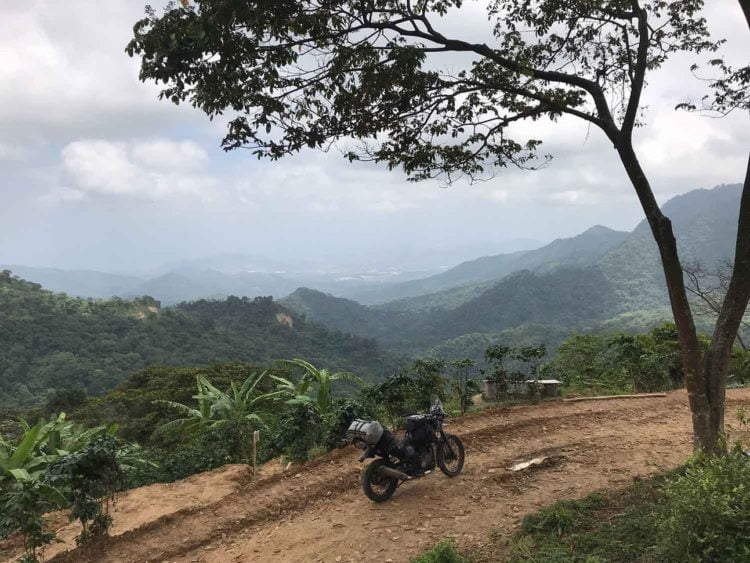 Bananas, coffee, and dirt—necessary ingredients for a mountain motorcycle ride in the north of Colombia. -Janelle Kaz