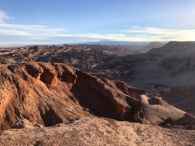 A view of the Valley of the Moon from one of the lookout points near the top of the road. -Janelle Kaz