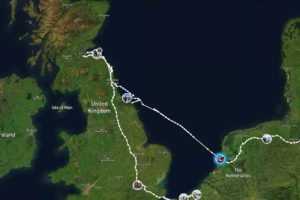 Crossing the North Sea To Visit Vicki in Scotland