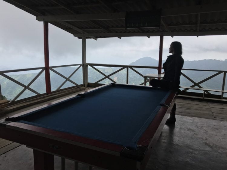 Snooker with a view. -Janelle Kaz