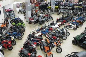 motorcycle sales showroom