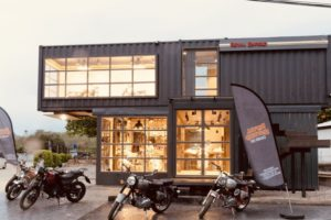 modular royal enfield showroom
