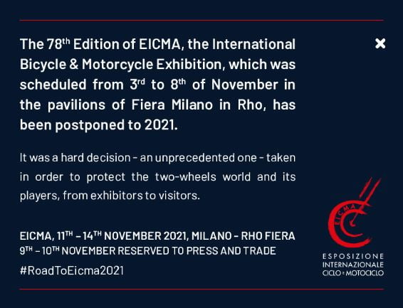 EICMA cancellation