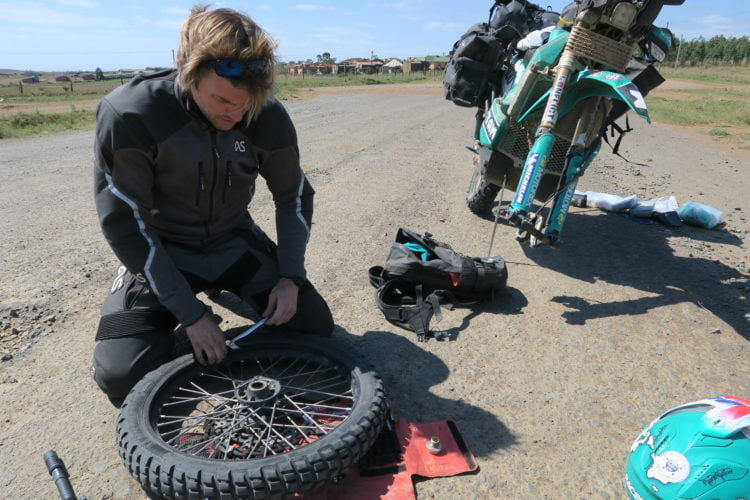 South Africa 2018: Fixing a Puncture