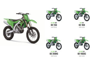 Kawasaki has new 250 and 450 off-roaders for 2021. Photo: Kawasaki
