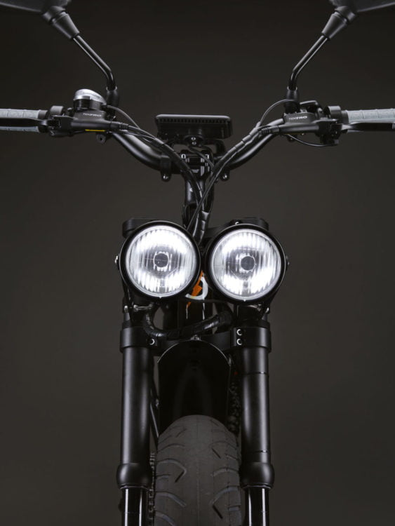 Spark twin headlights moped