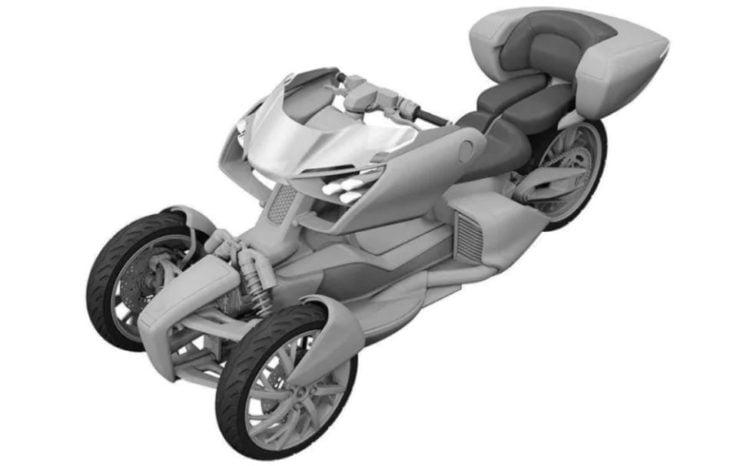 Yamaha leaning hybrid trike