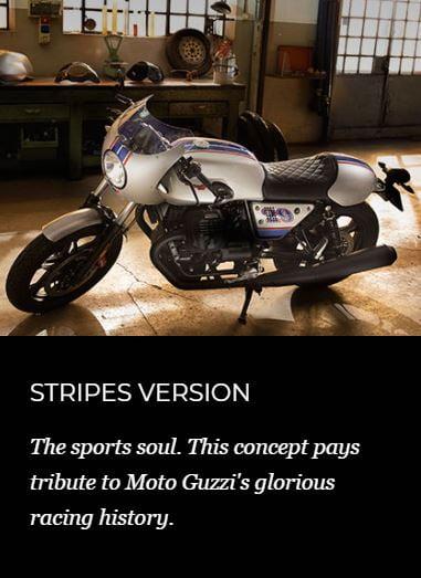 stripes moto guzzi