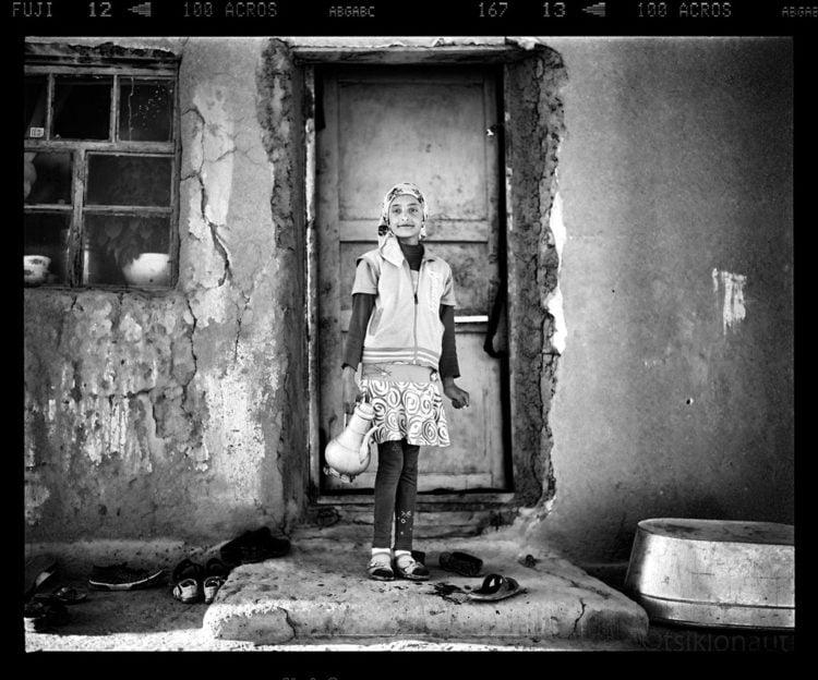Watergirl (Tajikistan). Pentax 67, 105mm f2.4, Fuji Acros 100 film