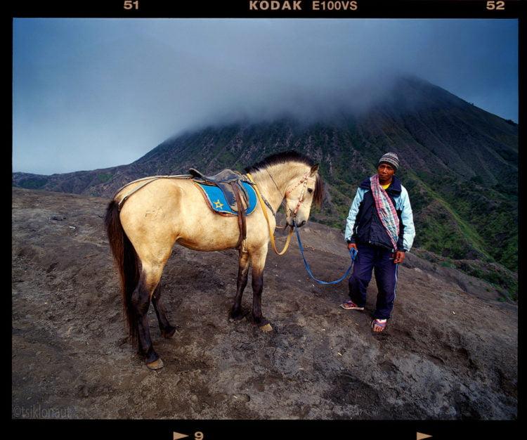 Horseman (Indonesia). Pentax 67, 45mm f4, Kodak Ektachrome 100 film.